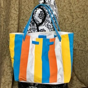 Clarins Colorful Summer Beach Tote Shoulder Bag
